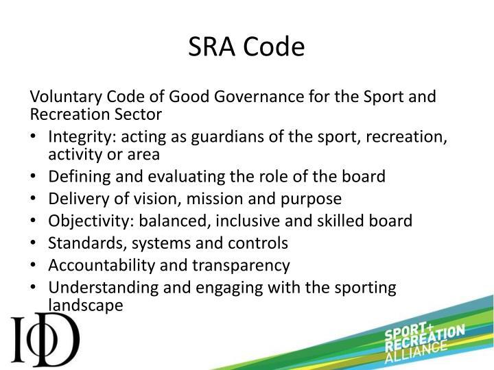 SRA Code