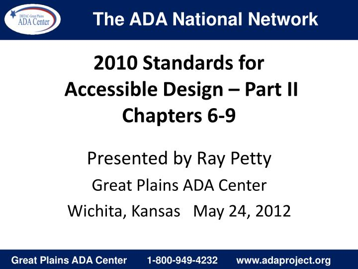 2010 standards for accessible design part ii chapters 6 9
