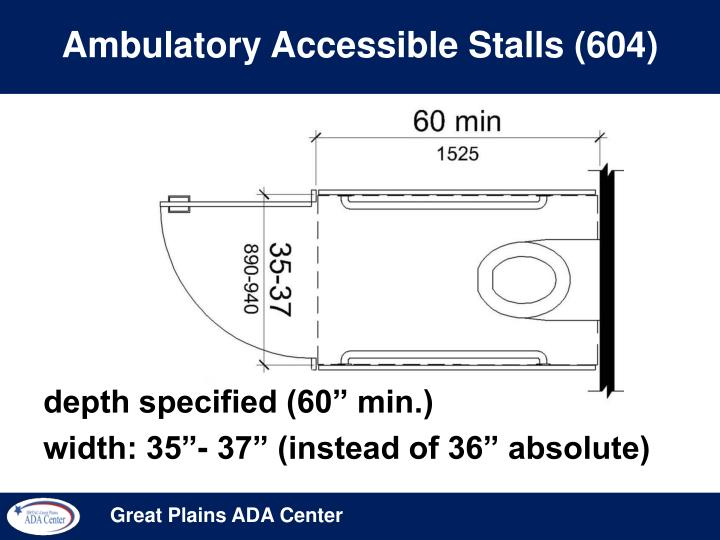 Ambulatory Accessible Stalls (604)
