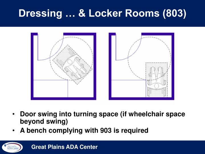 Dressing … & Locker Rooms (803)