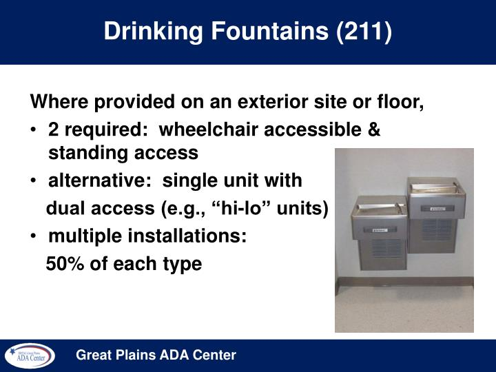 Drinking fountains 211