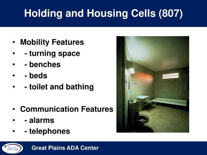 Holding and Housing Cells (807)