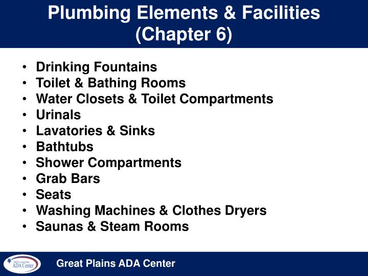 Plumbing elements facilities chapter 6