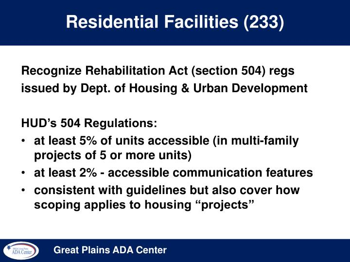 Residential Facilities (233)