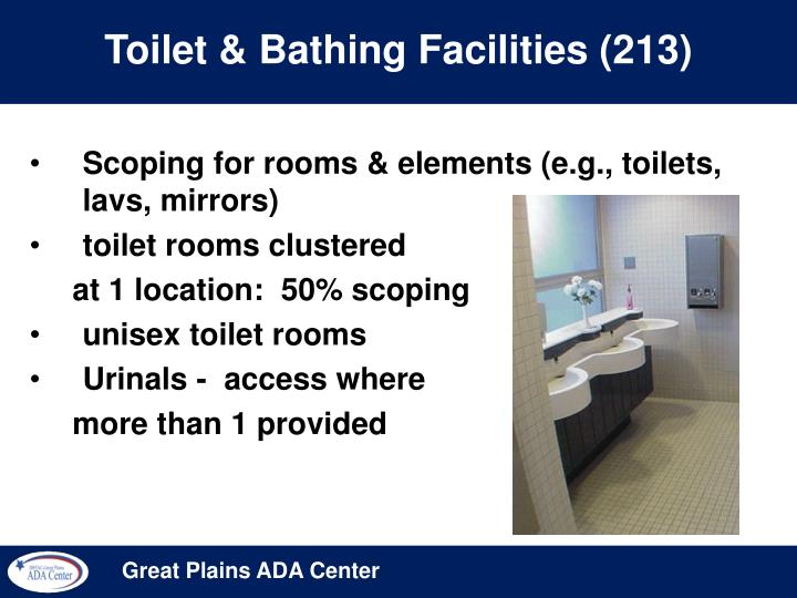 Toilet & Bathing Facilities (213)