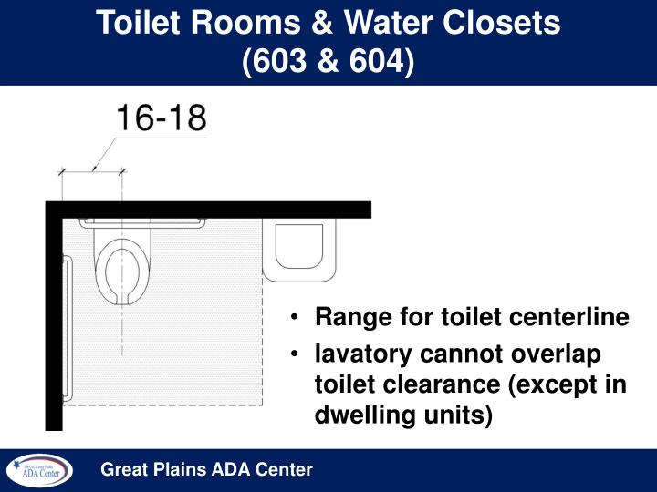 Toilet Rooms & Water Closets