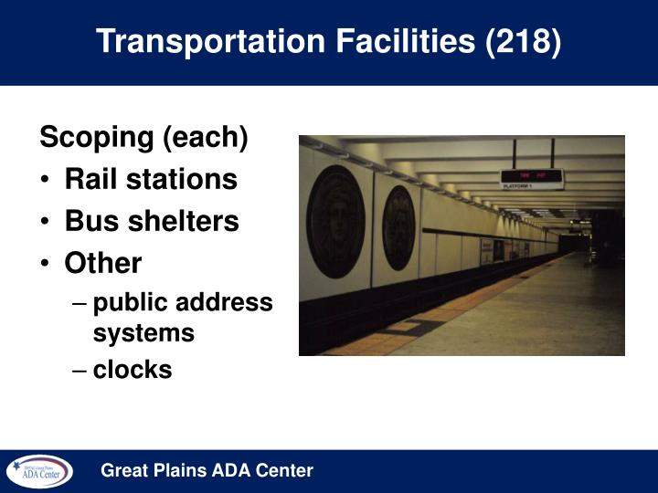 Transportation Facilities (218)