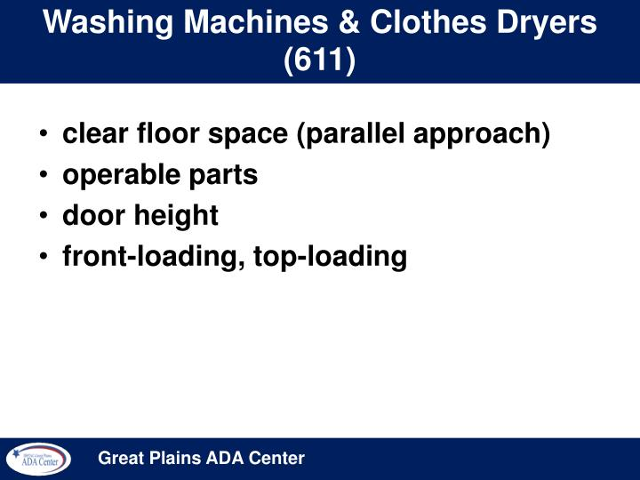 Washing Machines & Clothes Dryers (611)