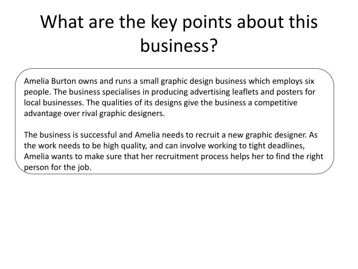 What are the key points about this business