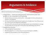 arguments evidence