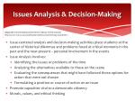 issues analysis decision making