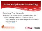 issues analysis decision making1