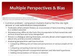 multiple perspectives bias