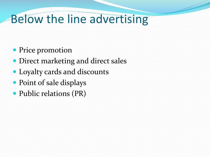 Below the line advertising