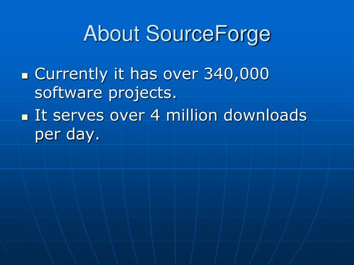 About sourceforge