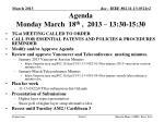 agenda monday march 18 th 2013 13 30 15 30