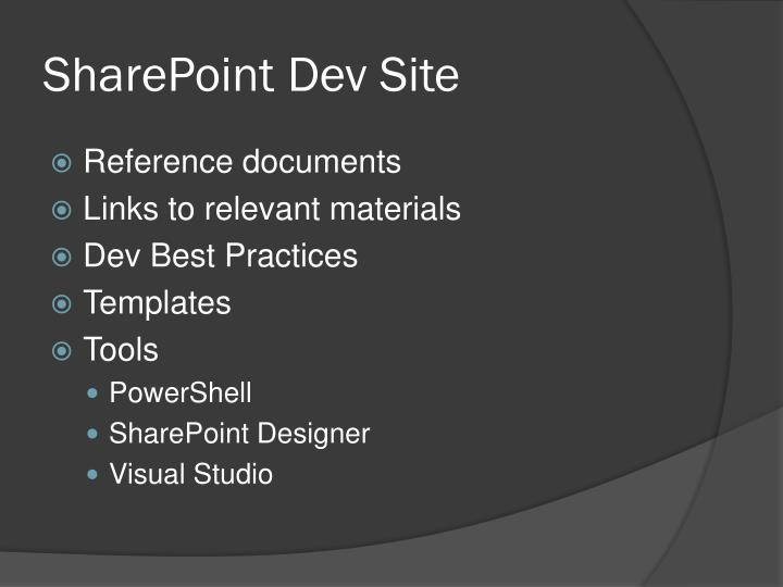 SharePoint Dev Site
