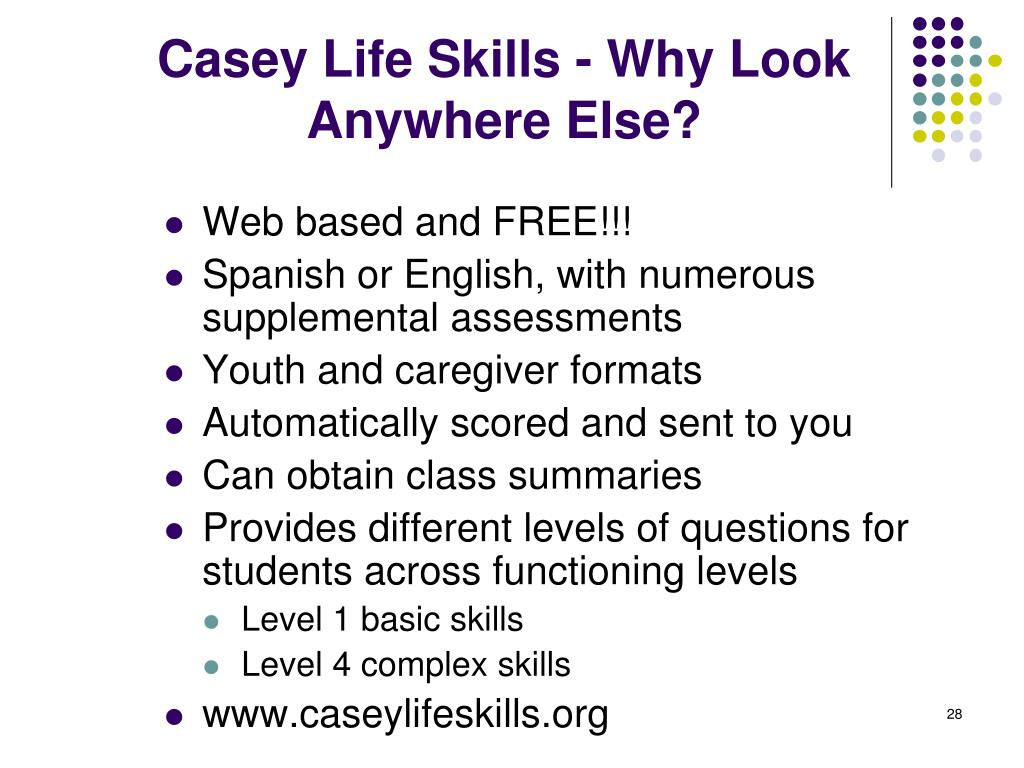 photograph relating to Ansell Casey Life Skills Assessment Printable identify PPT - Having Changeover Examination in the direction of Acquire Postschool and