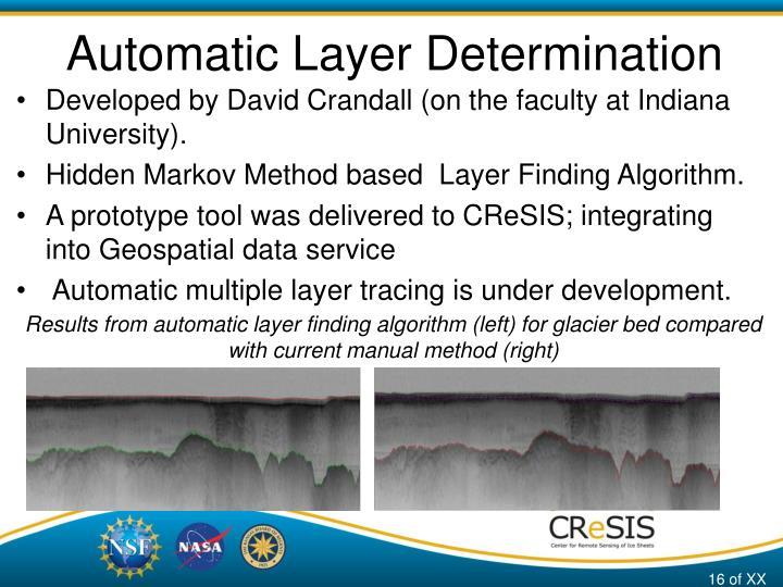 Automatic Layer Determination
