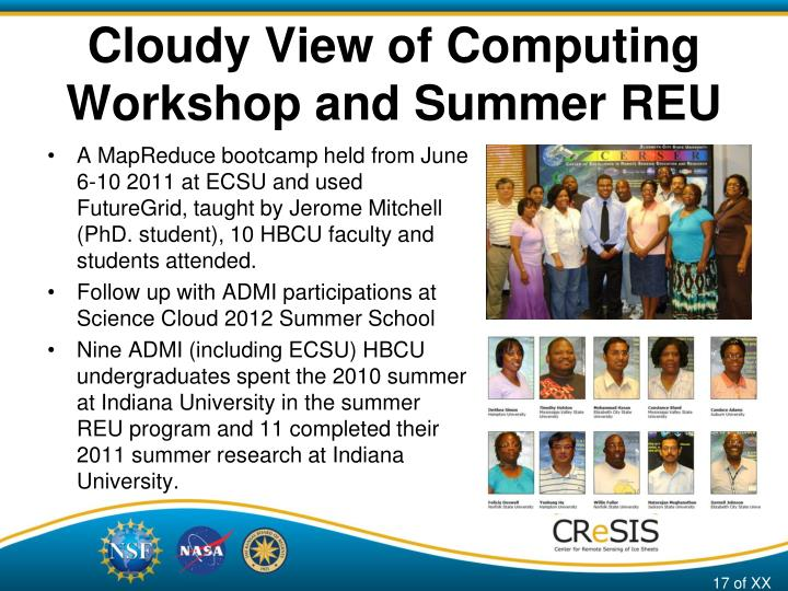Cloudy View of Computing
