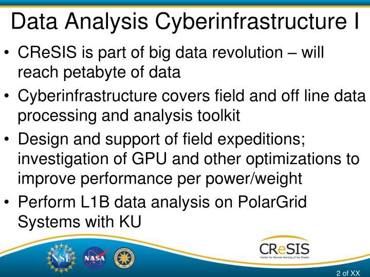 Data analysis cyberinfrastructure i