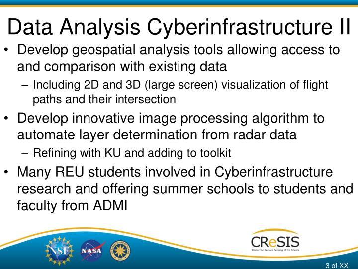 Data analysis cyberinfrastructure ii