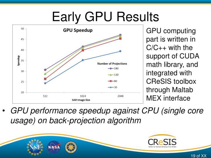Early GPU Results