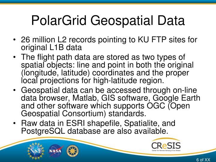 PolarGrid Geospatial Data