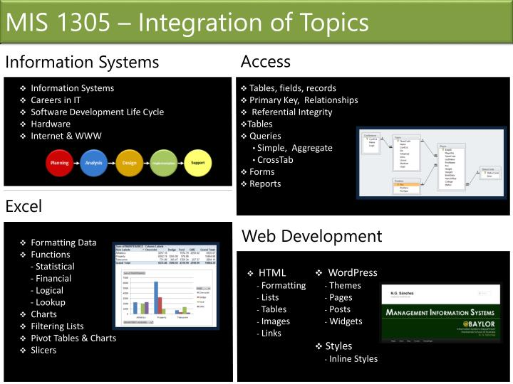 MIS 1305 – Integration of Topics