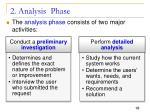 2 analysis phase