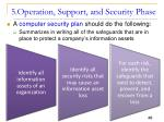 5 operation support and security phase1