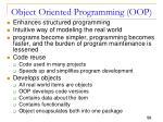 object oriented programming oop