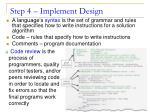 step 4 implement design1