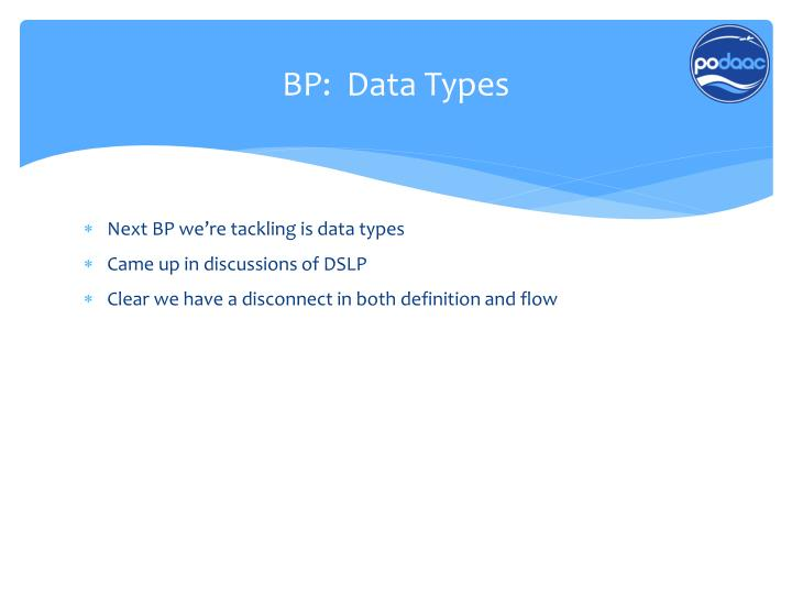 BP:  Data Types