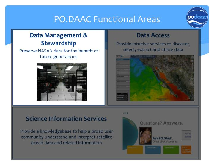 Po daac functional areas1