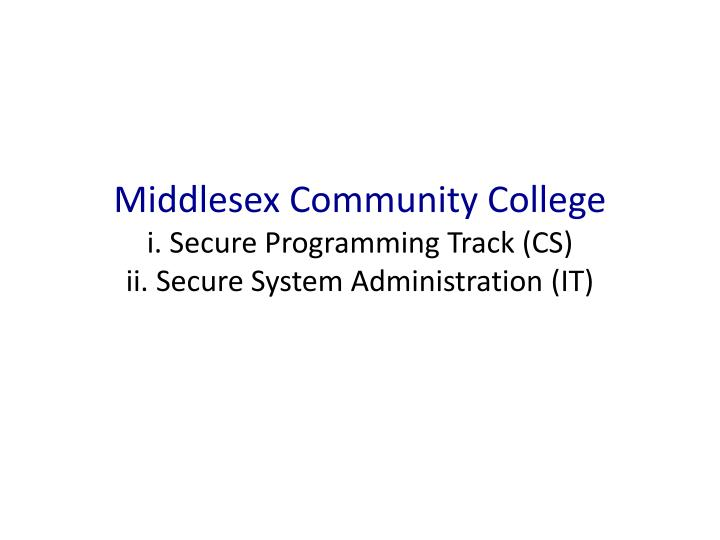Middlesex Community College