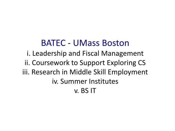 BATEC - UMass