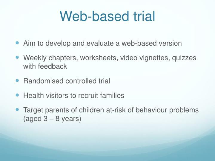 Web-based trial