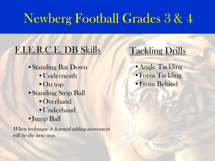 Newberg Football Grades 3 & 4