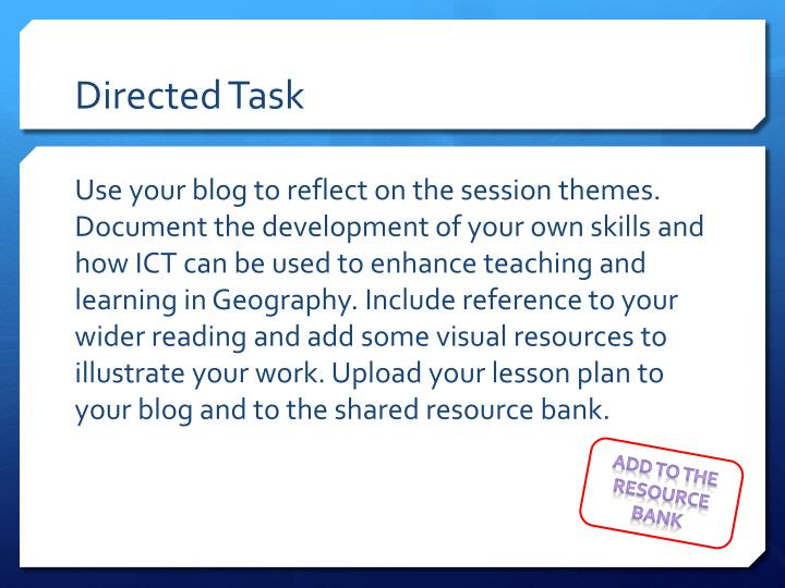 Directed Task