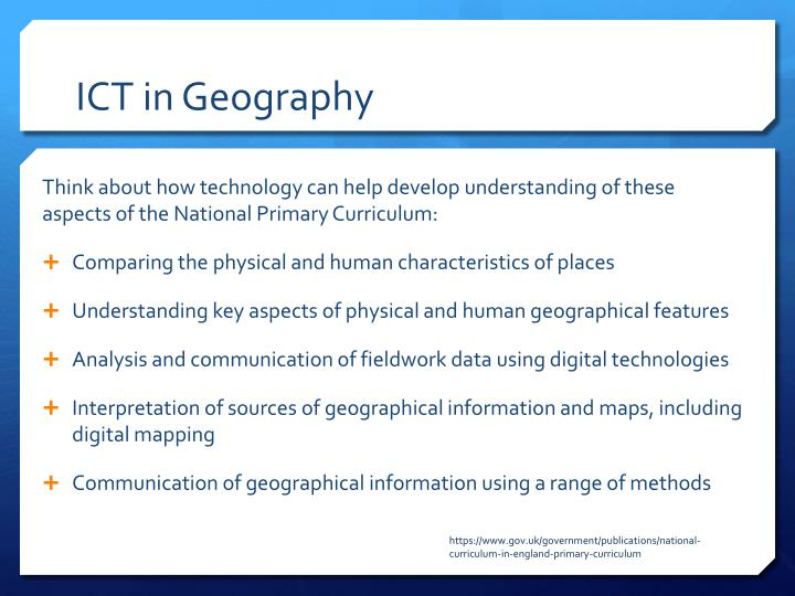 ICT in Geography