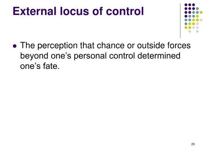 External locus of control