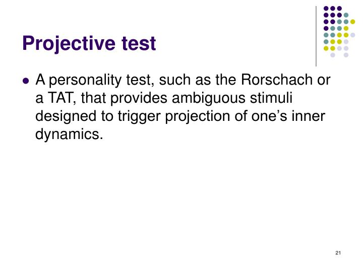Projective test