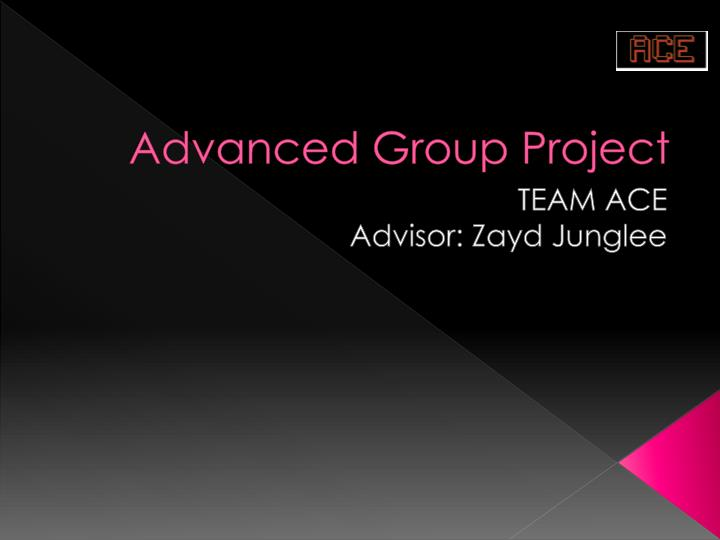 advanced group project n.