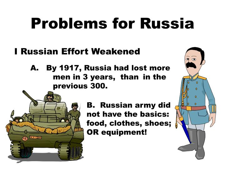 Problems for russia