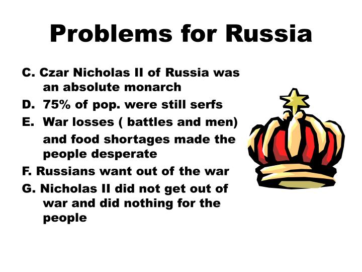 Problems for russia1