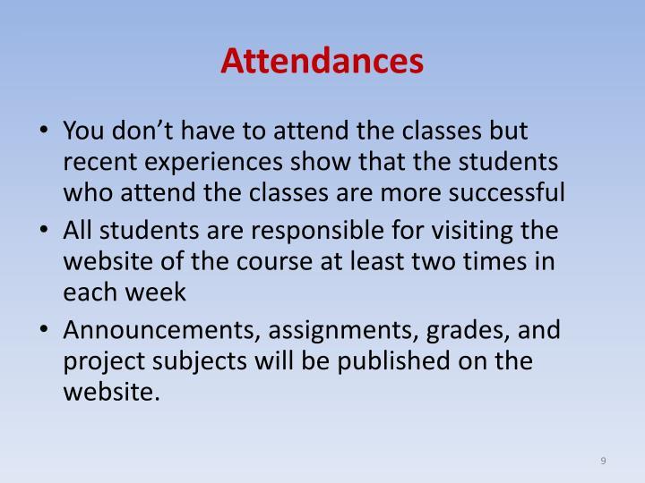 Attendances