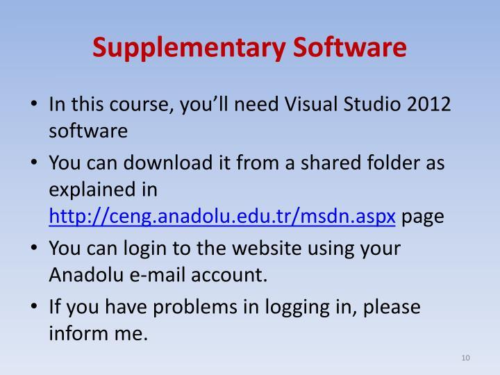 Supplementary Software