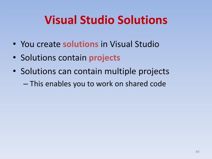 Visual Studio Solutions