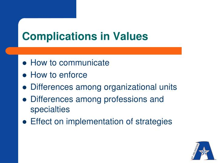 Complications in Values